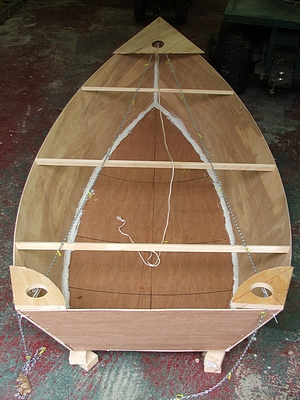 boat building with 2 part marine epoxy stitch and glue